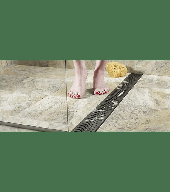 Canal de ducha plana con Rejilla modelo Wave