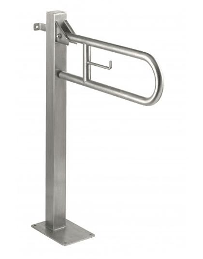 Barra Abatible Acero con Pedestal