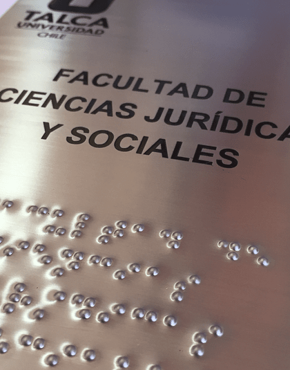 Señalética Braille en Acero Inoxidable