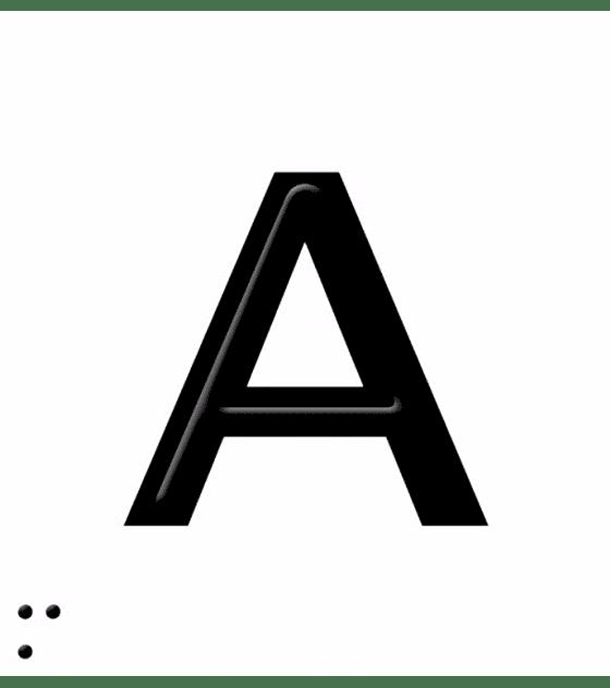Señalética en Braille PuntoDis - Letras A-Z