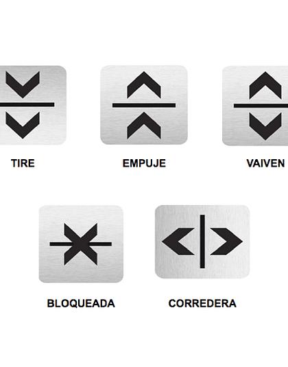 Señalética Lectura Fácil- Organizador de Tránsito para puertas