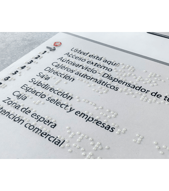 Mapa Táctil con Sobre Relieve + Braille