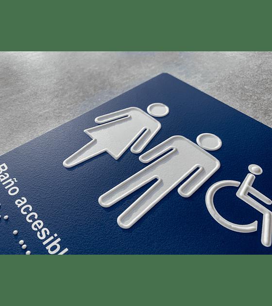 Señalética Baño Accesible Estándar en Sobrerelieve + Braille