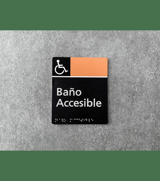 Señalética Baño Accesible en Sobrerelieve + Braille (A PEDIDO)