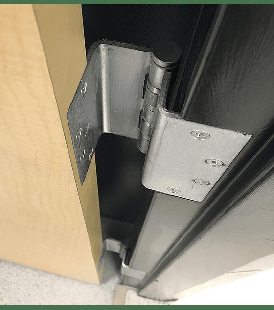Bisagra puerta extensible 90º