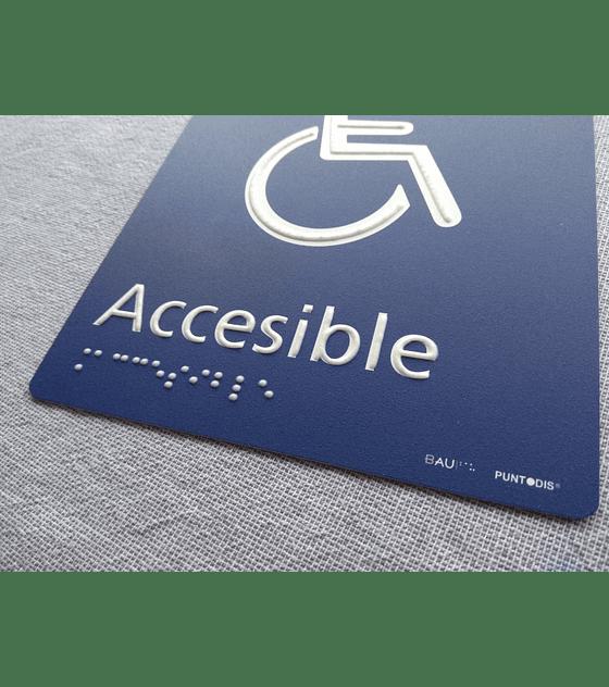 Señalética Baño Accesible Estándar - Sobrerelieve + Braille