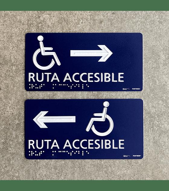 Señalética Ruta Accesible - Braille + Altorrelieve