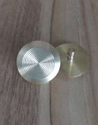 Botón podotáctil de advertencia - Acero Inoxidable