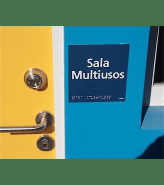 Señalética Mural Inclusiva - Braille + Altorrelieve