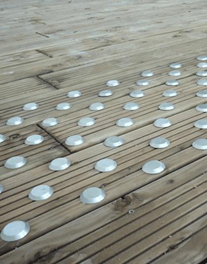 Botones podotáctiles de Acero Inoxidable