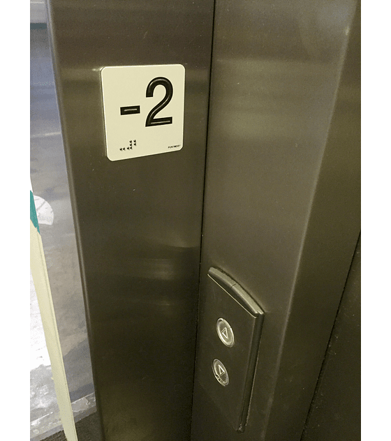 Señalética en Braille y Sobrerelieve - Números