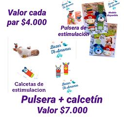 Pulsera + Calcetín de estimulación