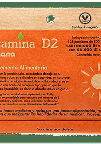 VITAMINA D2 (VEGANA) 125 PORCIONES