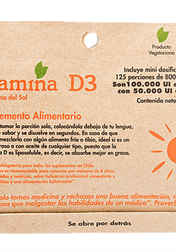 VITAMINA D3 125 PORCIONES