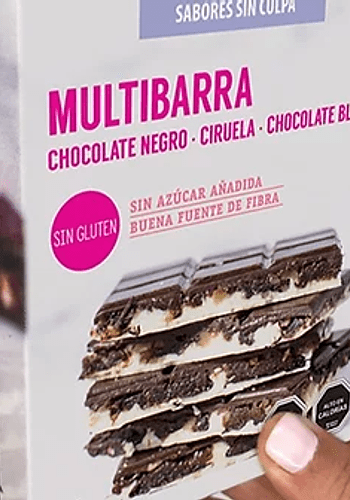 MULTIBARRA CHOCOLATE NEGRO, CIRUELA, CHOCOLATE BLANCO SÍN GLUTEN 140GR