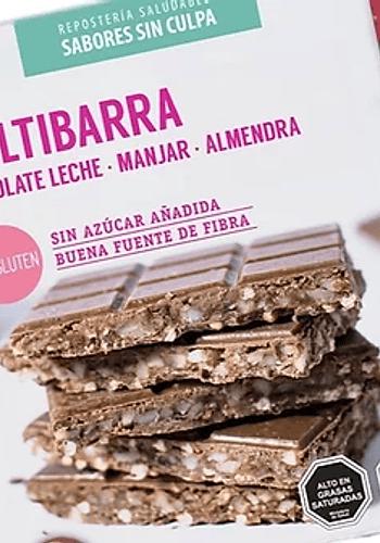 MULTIBARRA CHOCOLATE LECHE, QUINOA, MANJAR, ALMENDRA SIN GLUTEN 140gr