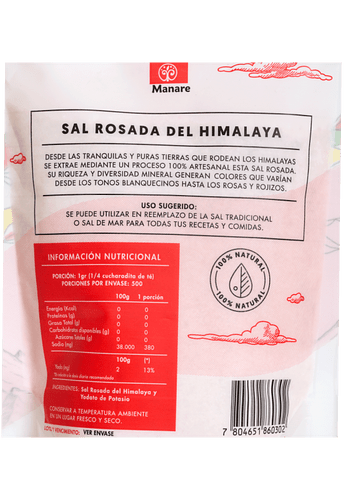 Sal Rosada del Himalaya GRUESA MANARE 500GR