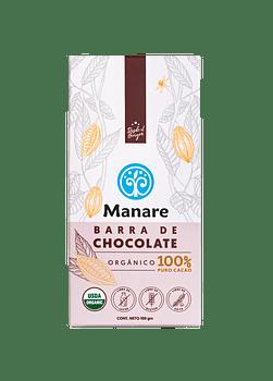 Barra de Chocolate orgánico 100% cacao 100gr