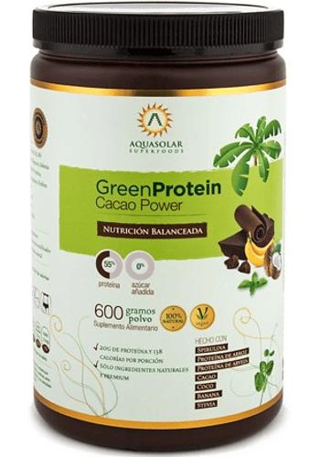 Proteina vegetal CACAO-SPIRULINA 600GR