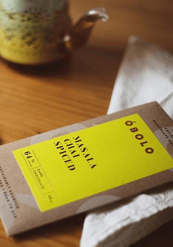 CHOCOLATE MASALA CHAI SPICED 64% CACAO 80 gr