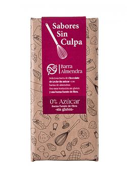 CHOCOLATE ALMENDRAS 35% CACAO SIN AZÚCAR SIN GLUTEN 80GR