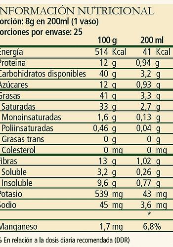 Leche de chocolate en polvo SIN LACTOSA 200gr
