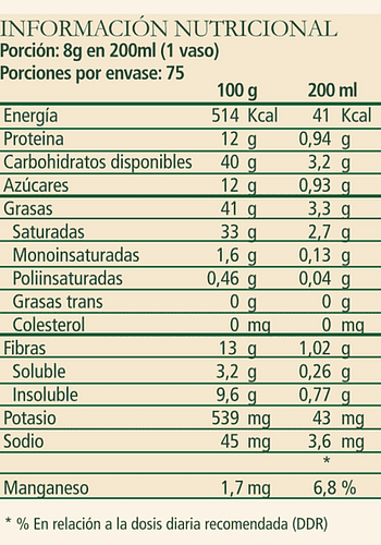 Leche de chocolate en polvo SIN LACTOSA 600gr