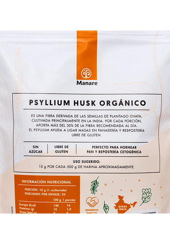 Psyllium Orgánico 200gr (Doypack)