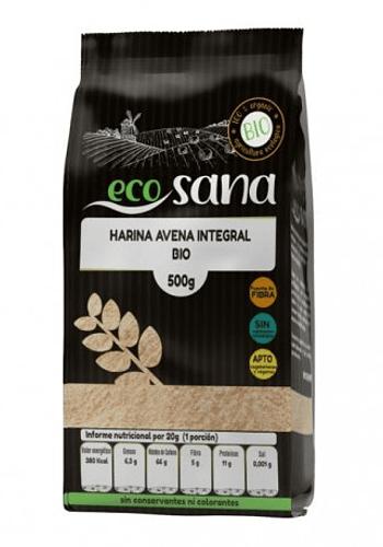 Harina de avena integral orgánica SIN GLUTEN 500gr