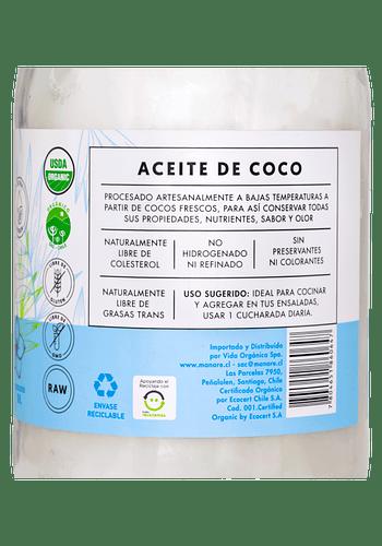 Aceite de coco orgánico 1LT MANARE