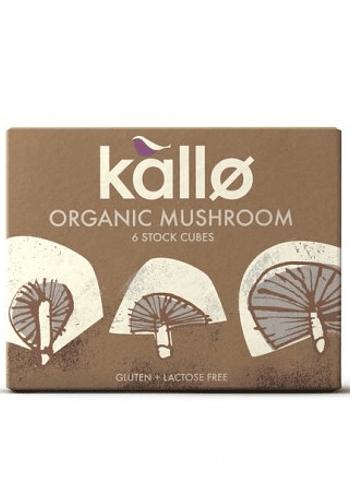 Caldo orgánico en cubos de hongos  sin gluten 66gr