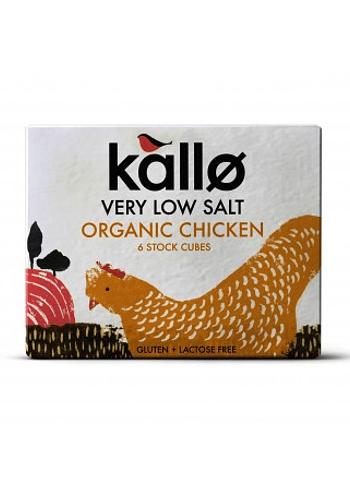 Caldo orgánico en cubos de pollo bajo en sal sin gluten 66gr