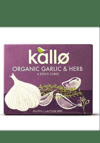 Caldo orgánico en cubos de hierbas y ajo sin gluten 66gr