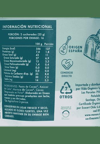 Monedas de chocolate 70% CACAO 400gr orgánico libre de gluten