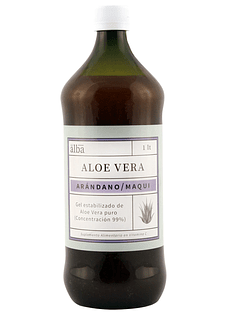 Aloe Vera arándano-maqui orgánico: Gel Puro 1lt