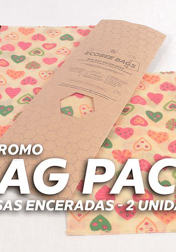 Bag Pack 2un / Bolsa de algodón encerada  1kg y 2kg