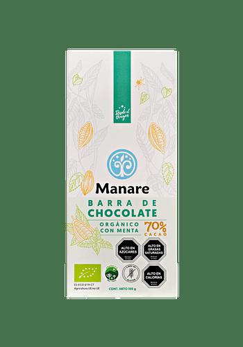 Chocolate con menta orgánico 70% Cacao 100g
