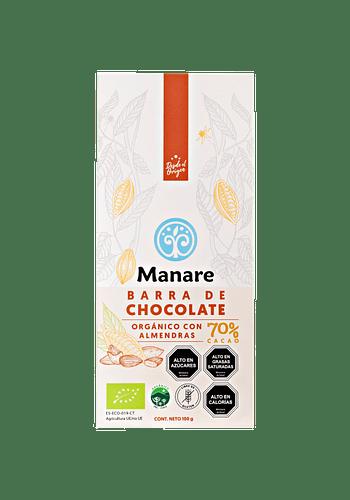 Chocolate con almendras orgánico 70% Cacao 100g