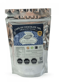 Chips de chocolate 70% CACAO 500GR