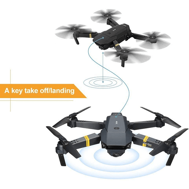 Dron Cámara Full HD 1080p Gran Angular, Plegable, Wifi, hasta 100mts. Incluye bolso y 2 baterías