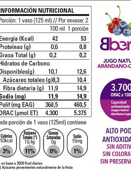Jugo Arándano Cereza (Caja de 3)