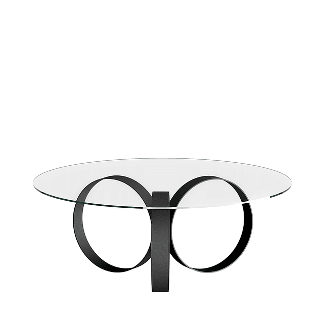Mesa De Centro Be Vidrio Negra