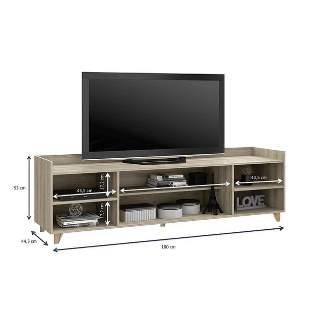 Rack Tv 1001 Aurora Blanco/Beige