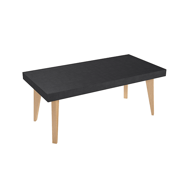 Mesa rectan Nordic 900 NEGRO