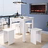 Conjunto mesa + 4 pisos Montreal