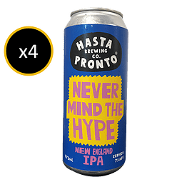 PACK HASTA PRONTO NEW ENGLAND IPA 7° 4X473CC