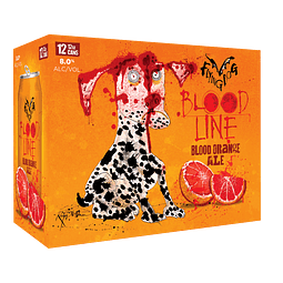 12x Cerveza Bloodline Orange Ale 355cc