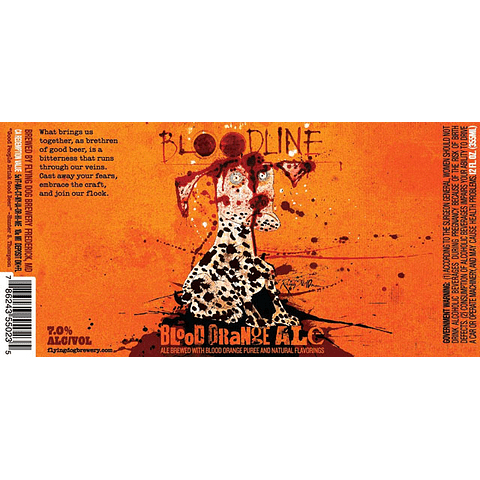 Cerveza Bloodline Orange Ale 12 unid.