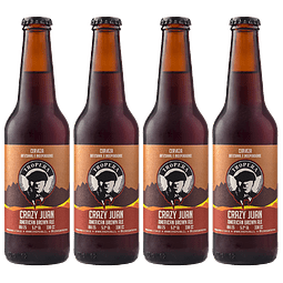 Action Sale! Pack Cervezas Tropera Crazy Juan Brown Ale 4 unid.