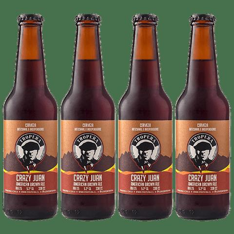 Action Sale! Pack Cervezas Tropera Crazy Juan Brown Ale 4 unid.